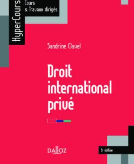 Droit international privé  5e édition