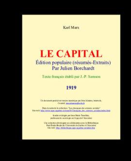 Le capital : Edition populaire (Résumés-extraits)