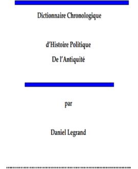 Dictionnaire chronologique d'histoire politique de l'antiquité