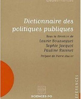 Dictionnaire des politiques publiques 4ème édition