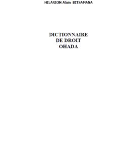 Dictionnaire de droit OHADA