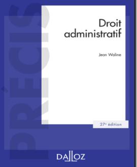 Droit administratif, 27e édition