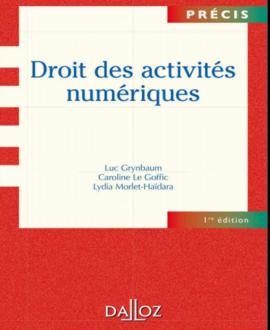 Droit des activités numérique, 1re édition