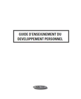 Guide d'enseignement du développement personnel