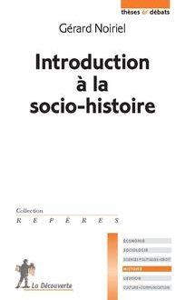 Introduction à la socio histoire