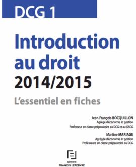 Introduction au droit 2014/2015 : L'essentiel en fiches
