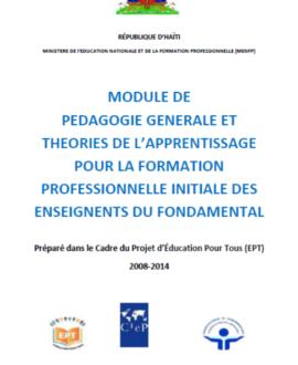 Module de pédagogie générale et théories de  l'apprentissage pour la formation  professionnelle initiale des enseignants  du fondamental