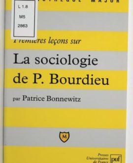 Premières leçons sur la sociologie de Pierre Bourdieu