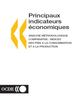 Principaux indicateurs économiques; Analyse méthodologie comparative: indices des prix à la consommation et à la production