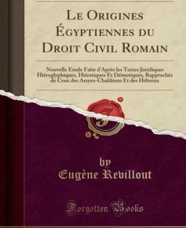 Les origines égyptiennes du droit civil romain