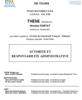 Autorité et responsabilité administrative