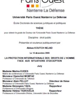La protection internationale des droits de l'homme face aux situations d'exception