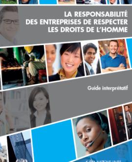 La responsabilité des entreprises de respecter les droits de l'homme : Guide interprétatif