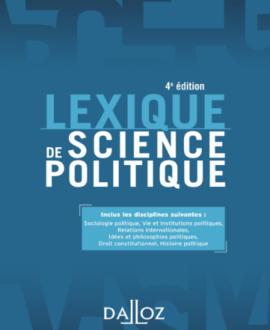 Lexique de science politique 4e édition 2017