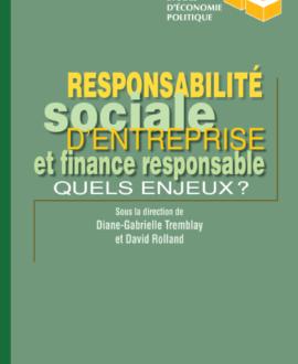 Responsabilité sociale d'entreprise et finance responsable : Quels enjeux?