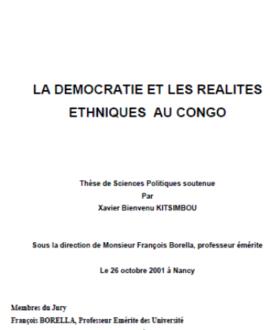 La démocratie et les réalités ethniques au Congo