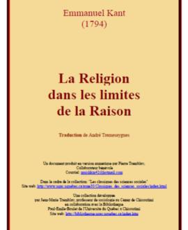 La religion dans les limites de la raison