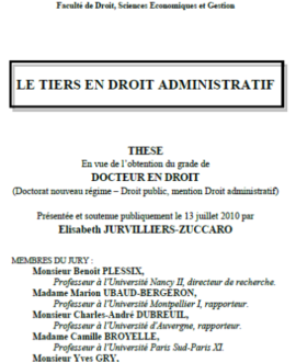 Le tiers en droit administratif