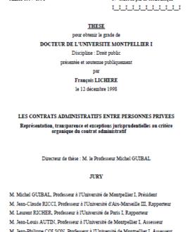 Les contrats administratifs entre personnes privées : Représentation, transparence et exceptions jurisprudentielles au critère organique du contrat administratif