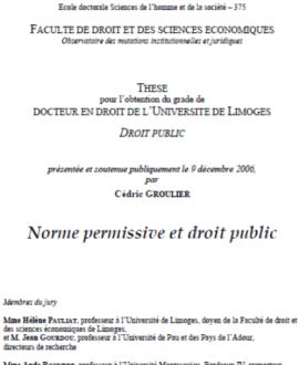 Norme permissive et droit public