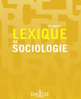 Lexique de sociologie 5e édition