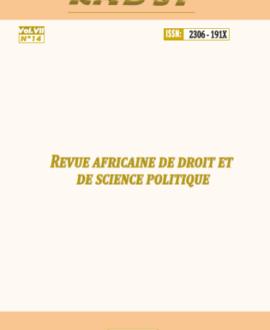 Revue africaine de droit et de science politique vol.VII