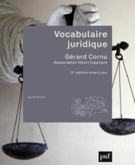 Vocabulaire juridique 12e édition